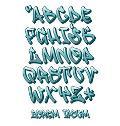 Graffiti font 3d- hand written - alphabet vector