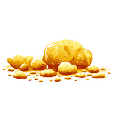 Group golden nuggets isolated vector