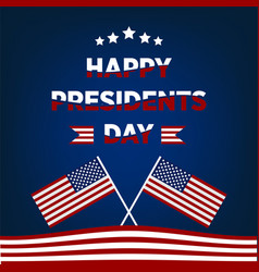 Happy presidents day design poster with red vector