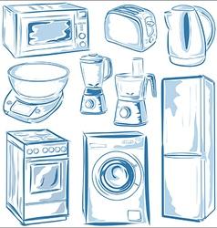 Home Appliances set vector