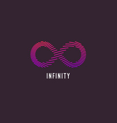 Infinity sign in modern graphics vector