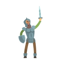 Knight Leading Attack With Sword And Shield Fairy vector