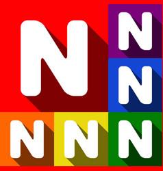 letter n sign design template element set vector image