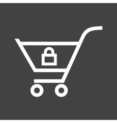 Locked Cart vector