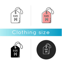 Medium size label icon linear black and rgb color vector