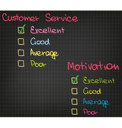 Motivation customer service vector