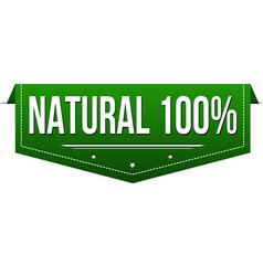 natural 100 banner design vector image