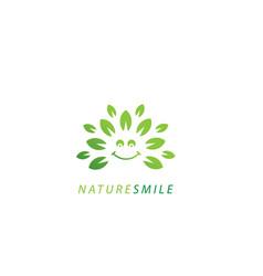 Nature smile logo - white background vector
