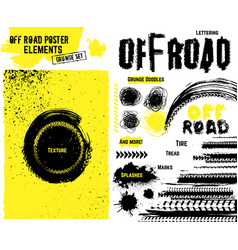 off-road poster elements vector image