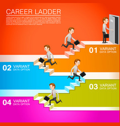 office worker climbs the career vector image