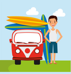 people summer vacations vector image