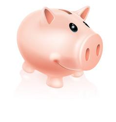 piggy bank character vector image
