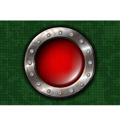 Red round lamp with rivets vector image