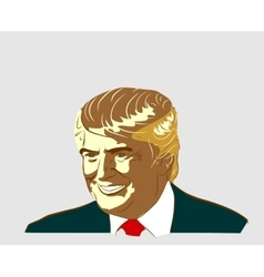 Republican Presidential Candidate Donald Trump vector