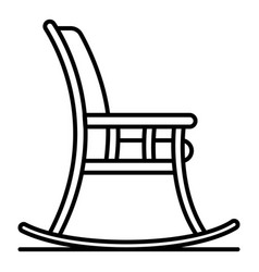 rocking chair icon outline style vector image