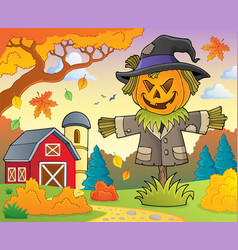 scarecrow topic image 2 vector image