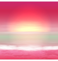 Sea perple sunset vector image