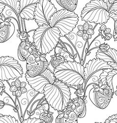 Seamless Monochrome Fruit Pattern vector image