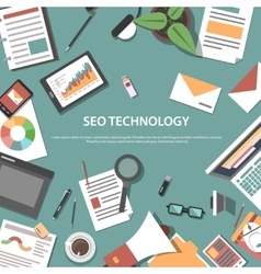 Search engine optimization web concept vector