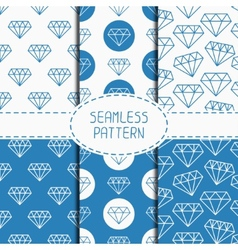 Set of blue hipster fashion geometric seamless vector