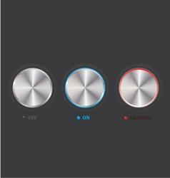 set of knob vector image