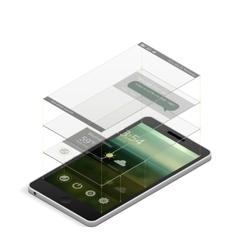 smartphone screen scheme vector image