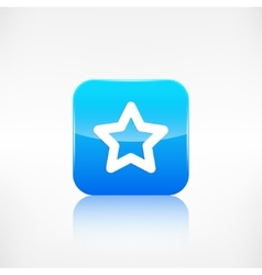 Star favorite sign web icon Application button vector image
