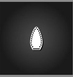steam iron icon flat vector image