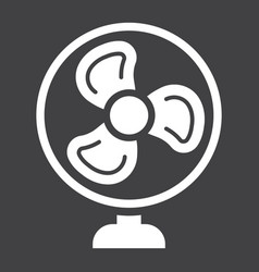 Table fan solid icon household and appliance vector