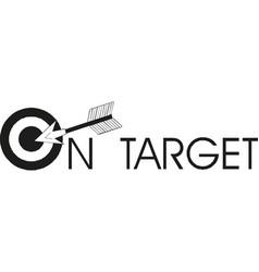 target arrow icon vector image
