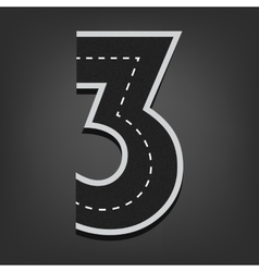 Three number Road font vector image