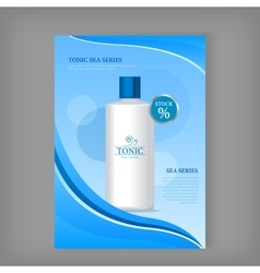Tonic Sea Series Bottle Isolated Discount Banner vector