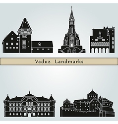 Vaduz landmarks and monuments vector image