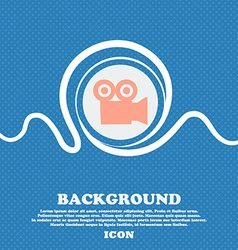 video camera sign icon Blue and white abstract vector image