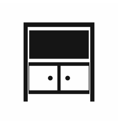 Vintage sideboard icon simple style vector image