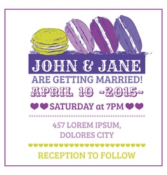 Wedding Invitation Card - Macaroon Theme vector