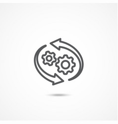 workflow icon vector image