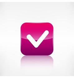 Accepr icon Yes ok symbol Application button vector image