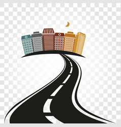 isolated abstract empty highway with dividing vector image