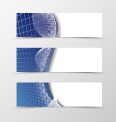 Set of banner grid design vector