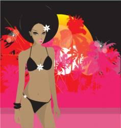 tropical princess vector image