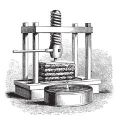 Cider Press vintage engraving vector image vector image