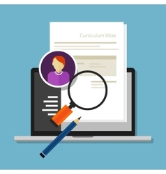 curriculum vitae cv resume employee recruitment vector image