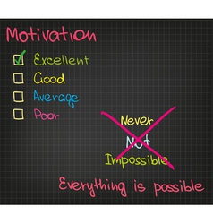 Motivation Everything is possible vector image