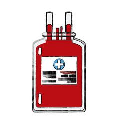 Plastic bag blood donate health care vector