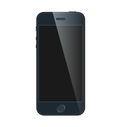 Realistic black mobile iphone with blank screen vector image vector image