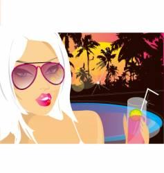 summer nights chill vector image
