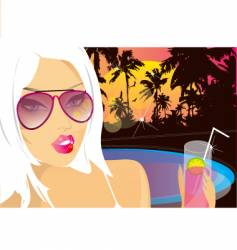 summer nights chill vector image vector image