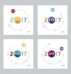 2017 Calendar Calendar Design vector image vector image