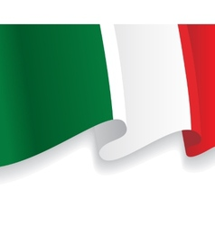 Background with waving Italian Flag vector image vector image